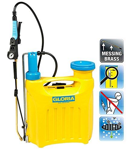 Gloria pompa irroratrice a spalla Hobby 1200 con pistone pompante con capacità di 12 litri, giallo