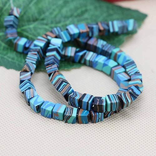 Stone Bead Strand With New Design 2019, 6mm Cube Blue Malachite Loose Diy Beads Stone - Malachite Square, Stone Beads, Malachite Nugget, Glass Stone Beads, Beads Stone, Labradorite Beads ()