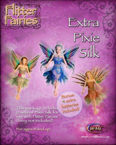 Flitter Fairies 12 Set Extra Pixie Silk Battery 4-Pack
