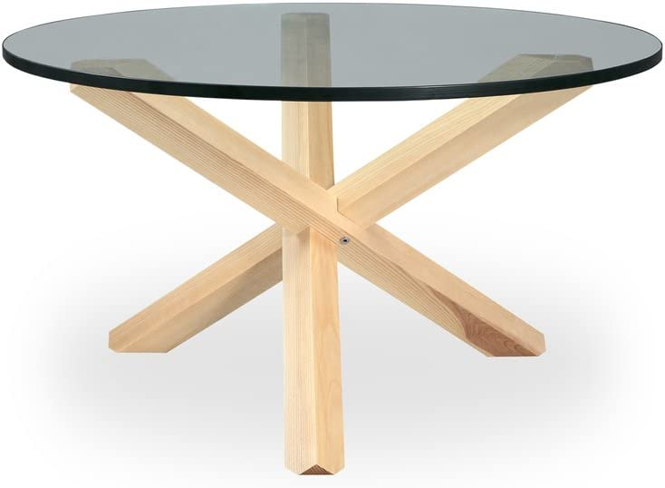 Kardiel Tripod Mid-Century Modern Coffee Table, Natural Ash Wood