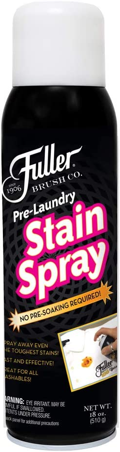Fuller Brush Pre-Laundry Stain Spray- Dissolves the Toughest Stains – No Pre-Soaking Required - 18 oz.