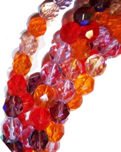 Czech Fire Polish 3mm Beads *Melonberry Mix* (100)