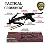 Rogue River Tactical 80lbs 80 Pound Pistol Crossbow with Arrow Holder w 3 Cross Bow Bolts Arrows