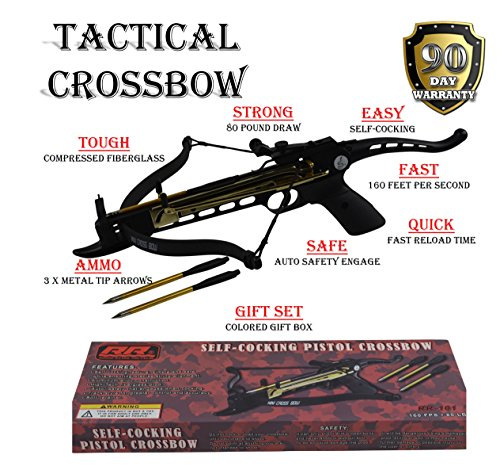 rogue-river-tactical-80lbs-80-pound-pistol-crossbow-with-arrow-holder-w-3-cross-bow-bolts-arrows