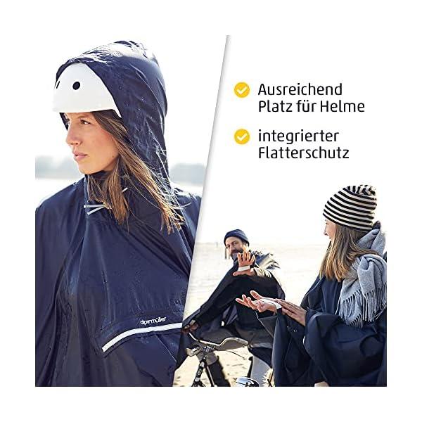 51nrlg2A3BS alpenmüller® Regenponcho Fahrrad Damen Herren Regencape | Der Testsieger für Outdoor Ausrüstung + Camping Gadget Die…