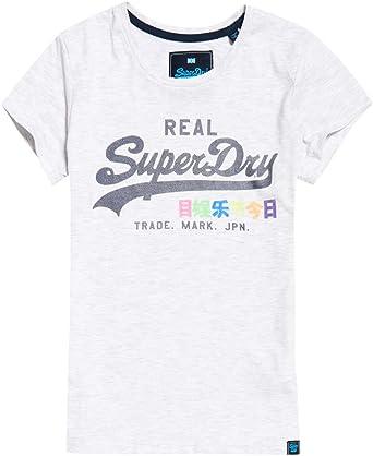 Superdry - Camiseta - para Mujer Gris Marga Hielo M (40): Amazon.es: Ropa y accesorios