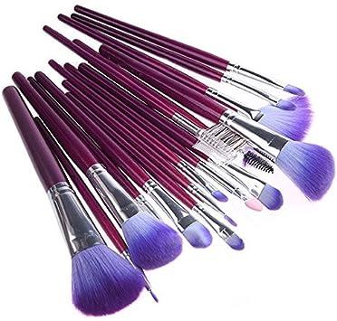 Juego de 16 brochas de maquillaje con estuche para maquillaje de ojos profesional: Amazon.es: Belleza
