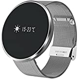 OPTA SB-039 Bluetooth Smartwatch With All-in-One Activity Tracker |Blood Pressure| Heart Rate| Multi-Sport Mode | Sleep Monitor -Steel