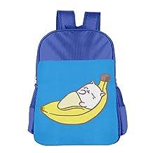 Casual Lightweight Banana Ang Cat School Backpacks Cut School Bag Daypack Book Bag