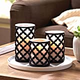 Better Homes and Gardens Flameless LED Pillar Candles 3-Pack Trellis
