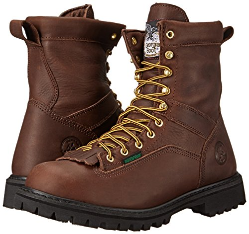 Georgia Men's G8041 Logger M Work Boot, Tumbled Chocolate, 14 W US by Georgia (Image #6)