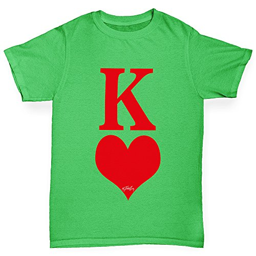 Twisted Envy Boy's King Of Hearts Cotton T-Shirt, Comfortable and Soft Classic Tee with Unique Design Age 3-4 - Stupid Sunglasses
