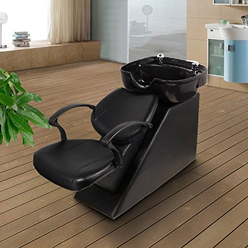 Erfect Backwash Chair Salon Bowl Shampoo Equipment Sink Unit Double Drain Beauty Stylist Station