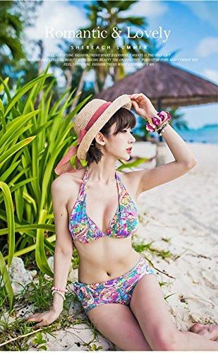 Swimsuit bikini set 3 piece Bohemian style blue and pink hooded dress. (Bra + Bikini + dress). Size M,L,XL BR-S-00519