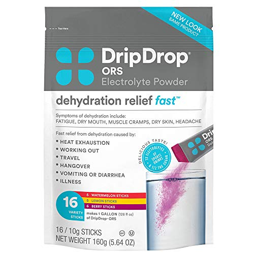 DripDrop ORS – Electrolyte Powder For Dehydration Relief Fast – For Workout, Sweating, Illness, & Travel Recovery…