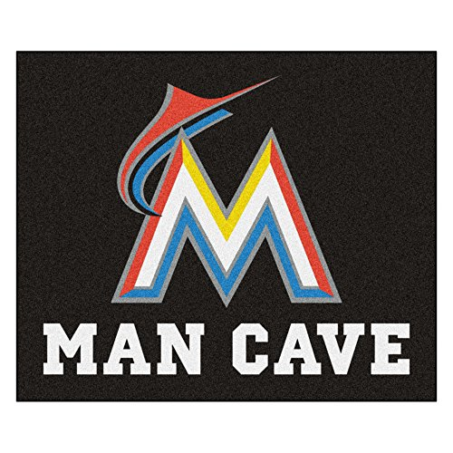 MLB Miami Marlins Man Cave Tailgater Rectangular Mat Area - Tailgater Rug Miami