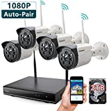 ONWOTE 1080P HD Wireless Security Camera System with 2TB Hard Drive