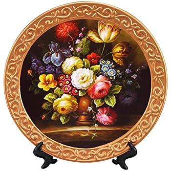 ZHAMS 10'' Ceramic Decorative Plate, Art Decoration (J)