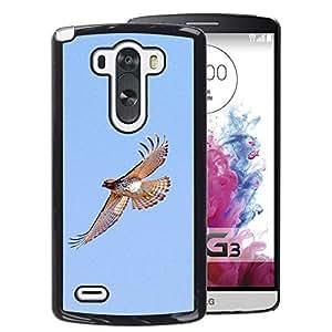 A-type Arte & diseño plástico duro Fundas Cover Cubre Hard Case Cover para LG G3 (Hawk Flight Birds Blue Sky Wings Nature)