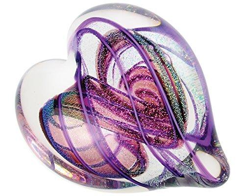 Glass Eye Studio Hearts of Fire Amethyst, Hand Blown Glass ()