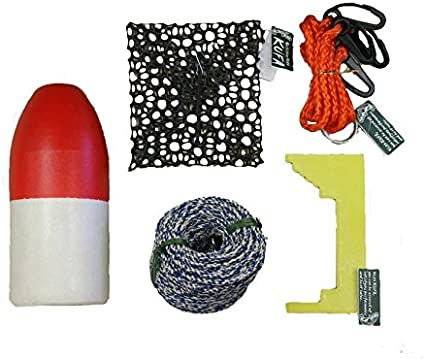 Lead Rope,Clipper,Harness,Bait cage /& Float KUFA Crabbing Accessory kit CES-3