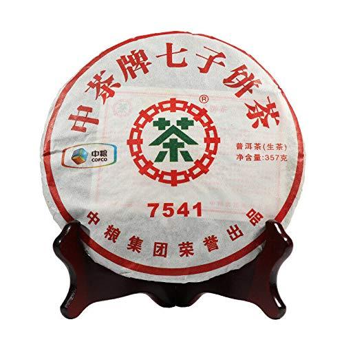 (7541 2011 Yr CHINA TEA Puer Tea Raw 357g Zhong Cha Chi Tse Beeng Cha Black Tea Qi Zi Puerh Cake Tea Pu-er)