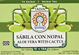 Tadin Tea Aloe Vera With Cactus 24 Bags - Te De Sabila Con Nopal- Diabetic Tea Helps control Blood Sugar & Cholesterole levels