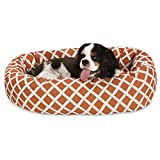 24 inch Burnt Orange Bamboo Sherpa Bagel Dog Bed Review