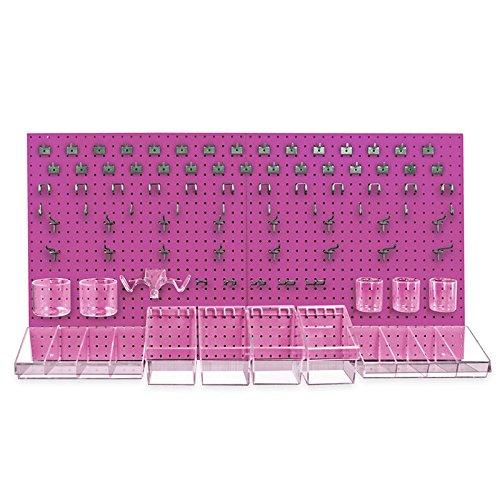 New 48''x24'' White Peg Board Kit Tool Storage Organizer w/Hooks Display Panel by Pegboard (Image #5)