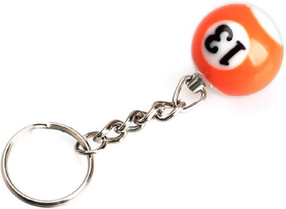 NR.13) Bola de billar Llavero con número A Pool Choice Billar Idea ...