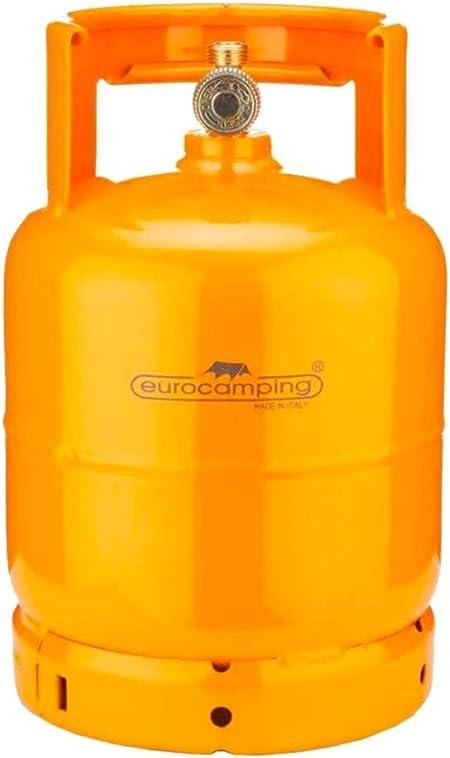 Bombona de gas de 3 kg, propano recargable, vacía para camping, hornillo