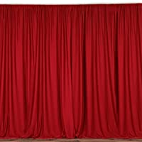 lovemyfabric 100% Polyester Window Curtain/Stage Backdrop Curtain/Photography Backdrop 58 Inch X 108 Inch (1, Red)