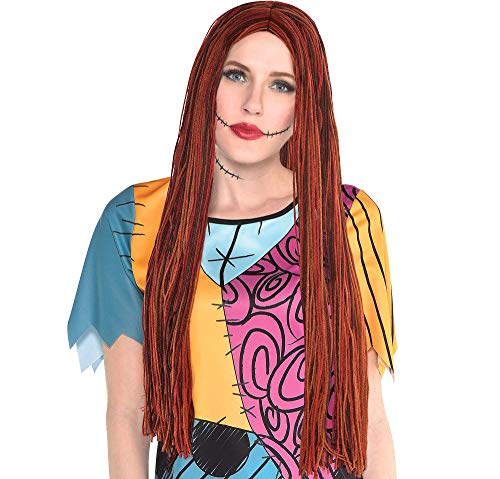 Party City The Nightmare Before Christmas Sally Halloween Wig for Women, One Size -
