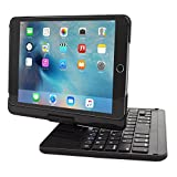 iPad Mini 4 Keyboard - Snugg [Black] Wireless Bluetooth Keyboard Case Cover 360° degree Rotatable Keyboard for Apple iPad Mini 4