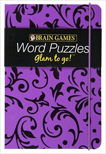 brain games glam to go word puzzles purple cover 本 通販