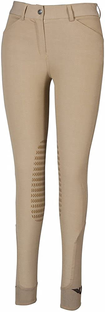 [TuffRider] Europa膝パッチLadies Breeches 28 サファリ B07D4FP1NV