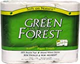 Green Forest Paper Towels, White, 104 Sheets (Pack of 30)