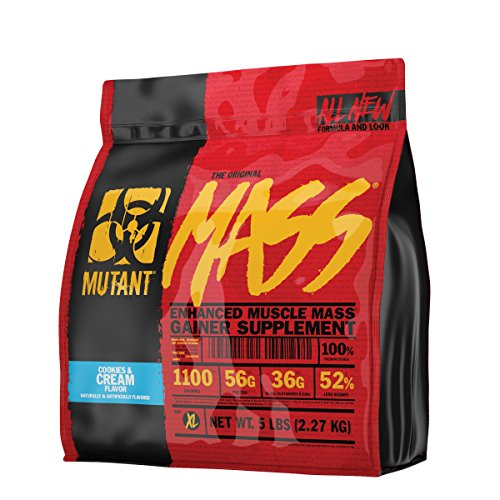 Mutant Mass – Award Winning Weight Gainer Featuring A 10 Whey, Casein, And Egg Protein Blend In Delicious Gourmet Flavors - Cookies & Cream Flavor
