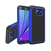 Galaxy Note 5 Case, Gefee® Hybrid Hard Cover [Drop Protection] Printed Design Pc+ Silicone Hybrid High Impact Defender Case Combo Hard Soft Case Cover for Samsung Galaxy Note 5 (Blue)