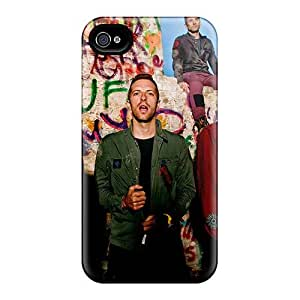 High Quality Cell-phone Hard Cover For Iphone 4/4s (gkK12262azHN) Customized Lifelike Coldplay Band Pictures