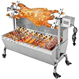 "Generic 132LBS 46.46"" Lamb Pig Goat Charcoal Barbeque Grill Spit Rotisserie Hog Roasting Machine with Wind Shield Motor"