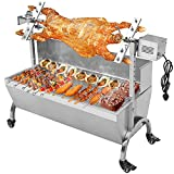 Generic 132LBS 46.46'' Lamb Pig Goat Charcoal Barbeque Grill Spit Rotisserie Hog Roasting Machine with Wind Shield Motor