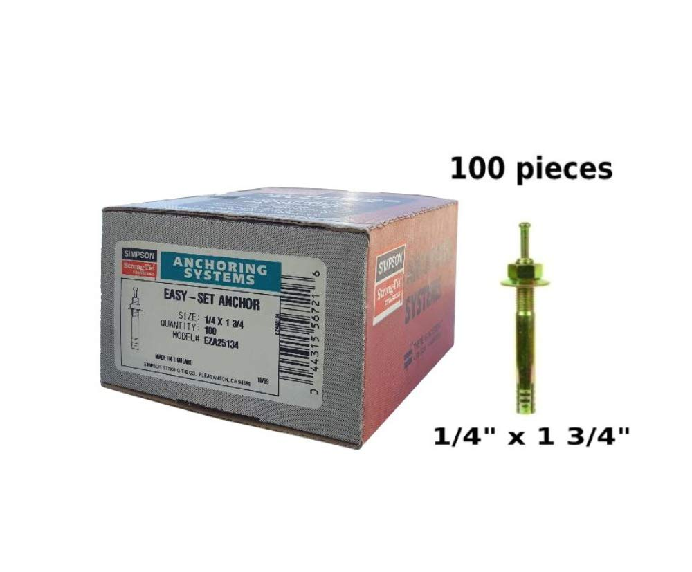 Pin Drive Anchor 1/4'' x 1 3/4'' Simpson Strong Tie EZA25134 Easy-Set Expansion Anchor 100 per Box by Simpson Strong - Tie