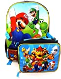 Licensed Super Mario 16In Backpack With Matching Lunch Bag Set