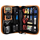 USHOT Soldering Iron Kit Electronics Adjustable Temperature Welding Tool Soldering Set