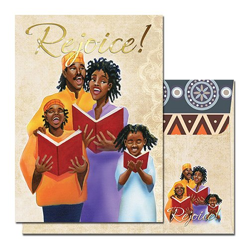 [Family (Rejoice): African American Christmas Card (Box Set of 15)] (African American Stationery)