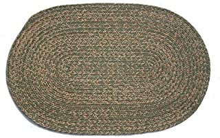 product image for Oval Braided Rug (2'x3'): Melissa Blend - No Band