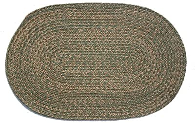 Oval Braided Rug (2'x3'): Melissa Blend - No Band
