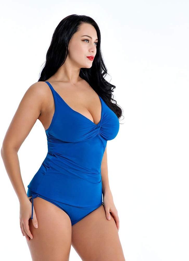 Womens slim swimsuit Women Ladies One Piece Deep V Swimsuit Sleeveless Center Front-Twist Slimming Monokini Backless Stretchy Tummy Control Beach Swimwear Bathing Suit Bodysuit Thong One-piece bikini