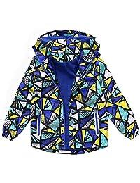 Hiheart Girls&Boys Waterproof Fleece Lined Jacket Hood Windproof Rain Coat